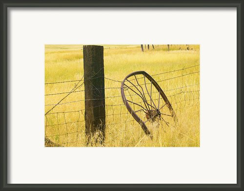 Wheel Looking For A Tractor Framed Print By Rich Franco