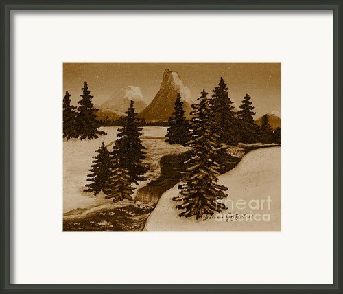 When It Snowed In The Mountains Framed Print By Barbara Griffin