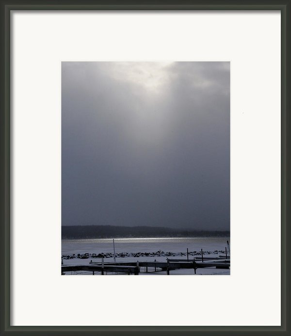When The Sun Broke Through On Canandaigua Lake 2011 Framed Print By Joseph Duba