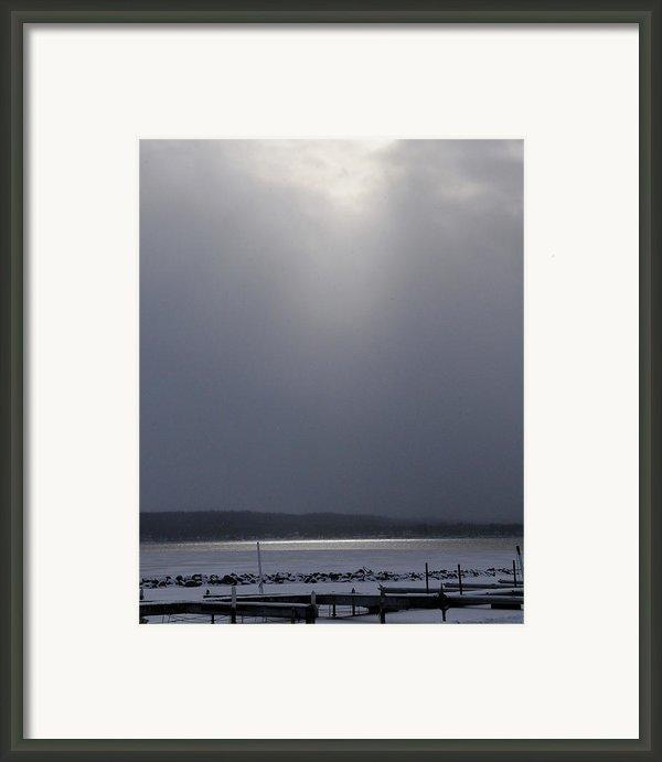 When The Sun Broke Through On Canandaigua Lake 2011 Framed Print By Joseph Duba