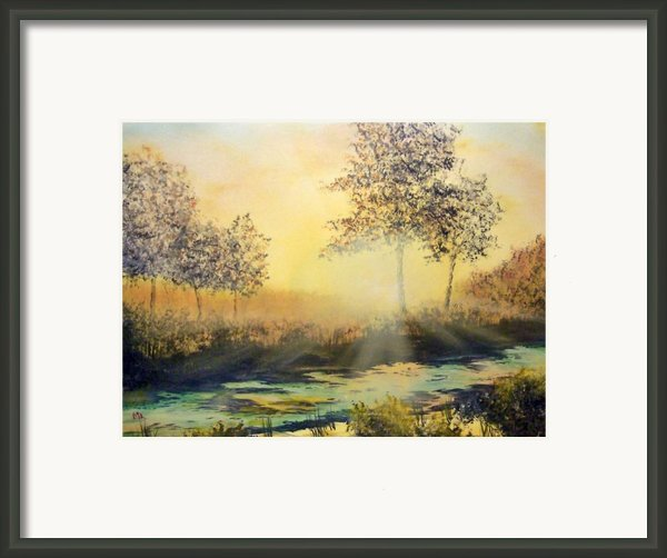 When The Sun Goes Down Framed Print By Kenneth Mcgarity