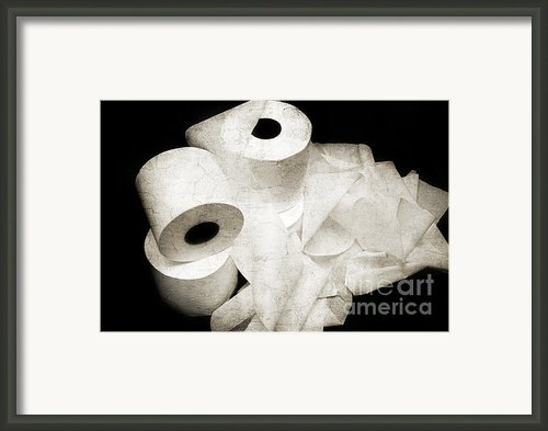 Where Is My Spare Roll Hc V3 Framed Print By Andee Photography