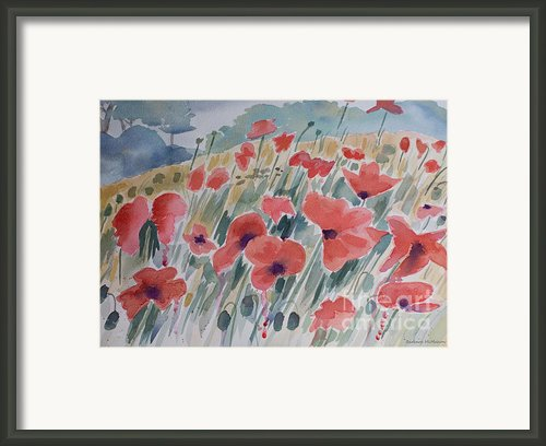 Where Poppies Grow Framed Print By Barbara Mcmahon