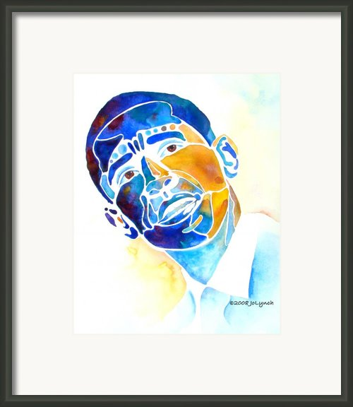 Whimzical Obama Framed Print By Jo Lynch