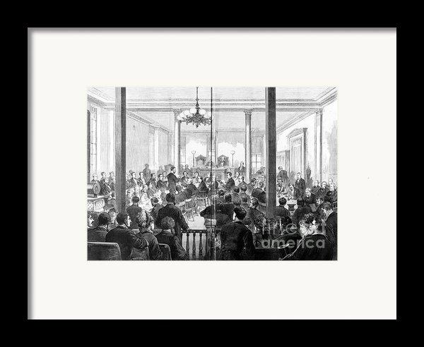 Whiskey Ring Trial, 1876 Framed Print By Granger