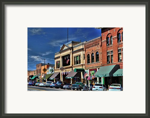 Whiskey Row - Prescott  Framed Print By Saija  Lehtonen