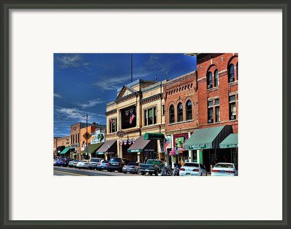 Whiskey Row - Prescott  Framed Print By Saija  Lehtonen