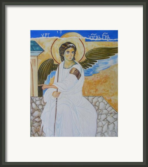 White Angel  Framed Print By Jovica Kostic