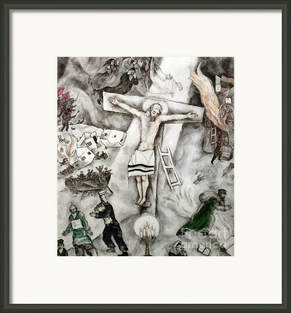 White Crucifixion Framed Print By Granger