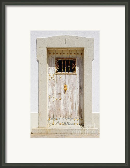 White Door Framed Print By Carlos Caetano