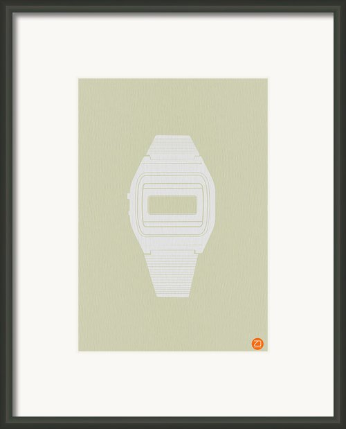 White Electronic Watch Framed Print By Irina  March
