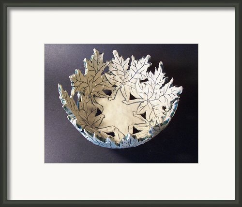 White Maple Leaf Bowl Framed Print By Carolyn Coffey Wallace