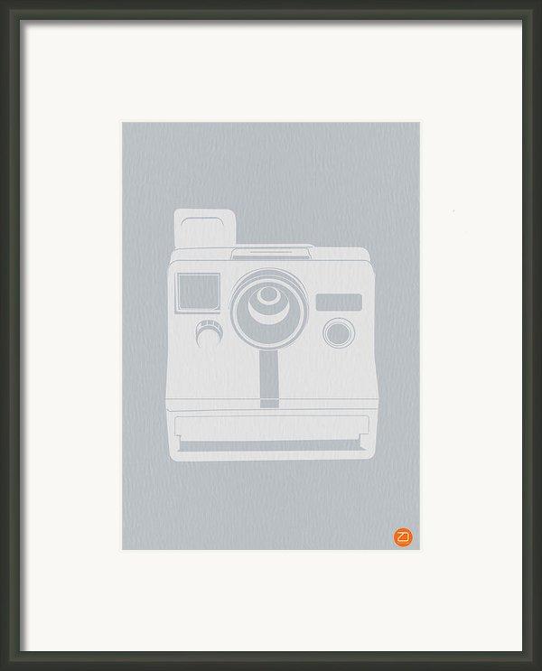 White Polaroid Camera Framed Print By Naxart Studio