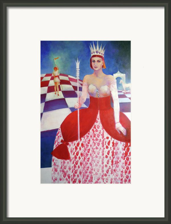 White Queen Framed Print By Elena Bardina