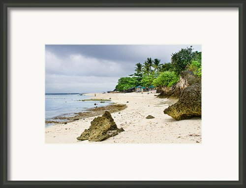 White Sand Beach Moal Boel Philippines Framed Print By James Bo Insogna