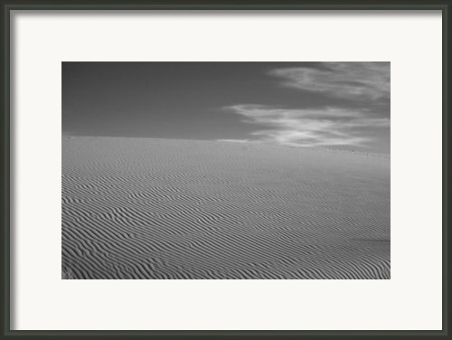 White Sands Dune Framed Print By Peter Tellone