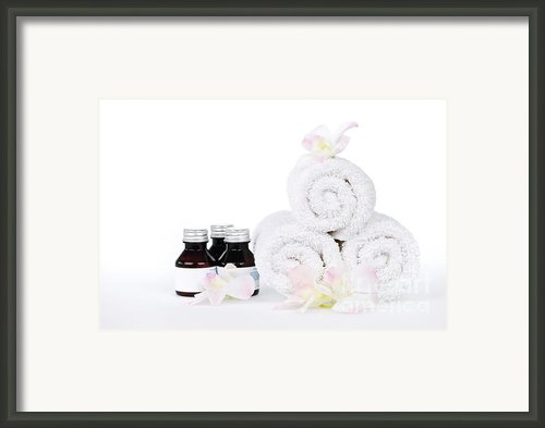 White Spa Framed Print By Elena Elisseeva