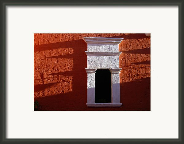 White Window Framed Print By Ricardmn Photography