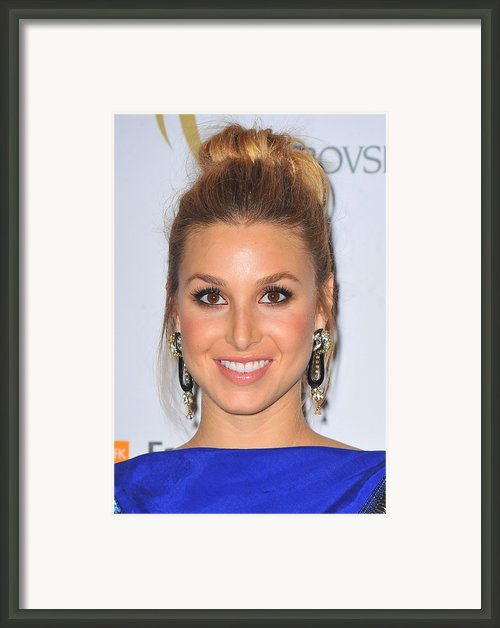 Whitney Port At Arrivals For The 2nd Framed Print By Everett