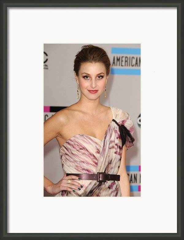 Whitney Port  Wearing A Rafael Cennamo Framed Print By Everett