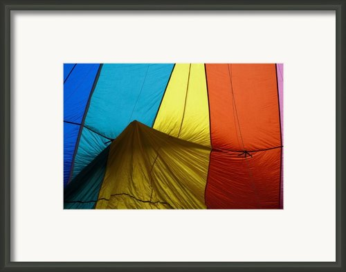 Who Landed This Balloon On Me Framed Print By Mike  Dawson