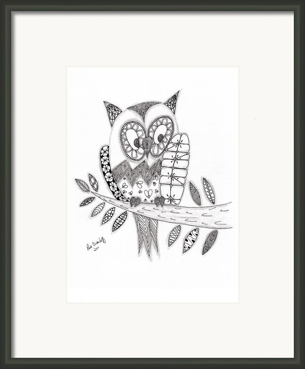 Who Says The Owl Framed Print By Paula Dickerhoff