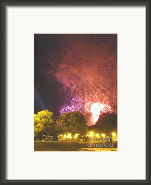 Why Fireworks Framed Print By Alisa Tek