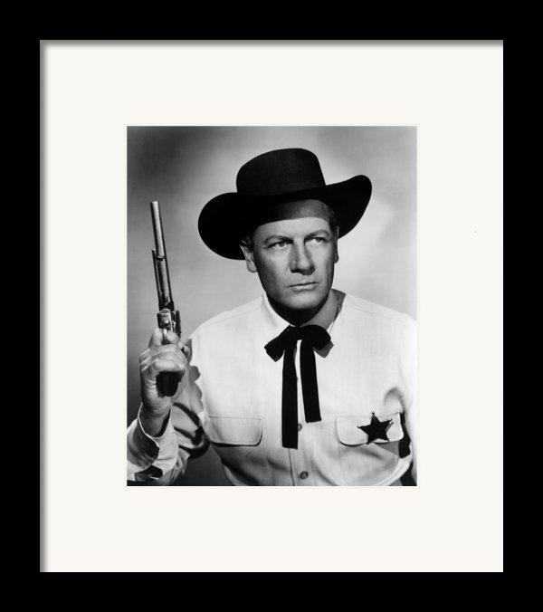 Wichita, Joel Mccrea, 1955 Framed Print By Everett