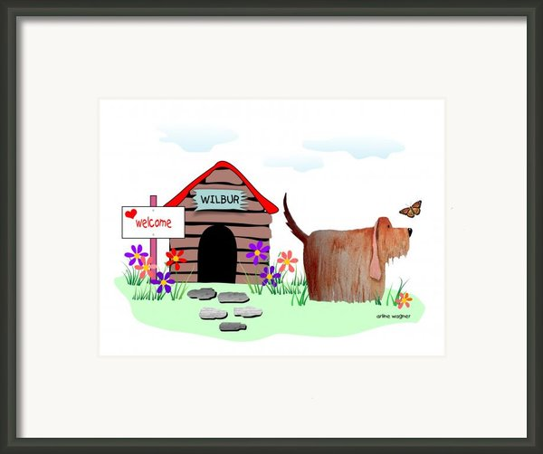 Wilbur And The Butterfly Framed Print By Arline Wagner