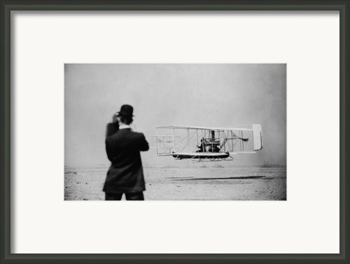 Wilbur Wright 1867-1912 Takes Framed Print By Everett