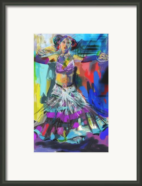 Wild Belly Dancer Framed Print By Barbara Kelley