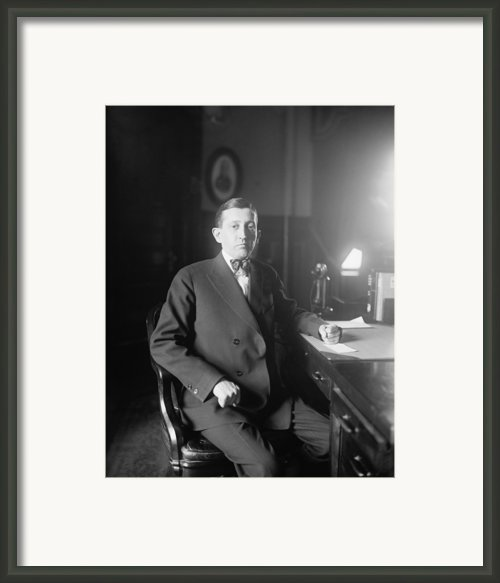 Will Hays 1879-1954, A Lawyer Framed Print By Everett