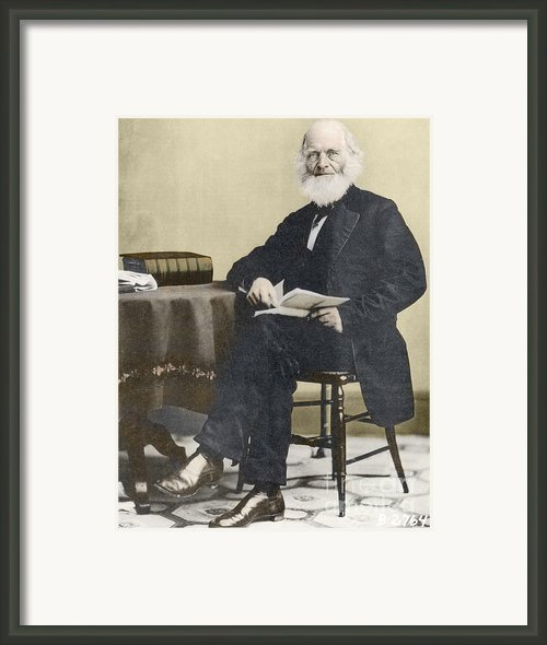 William Cullen Bryant, American Poet Framed Print By Science Source