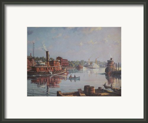 William G Muller Rondout Creek Framed Print By Jake Hartz