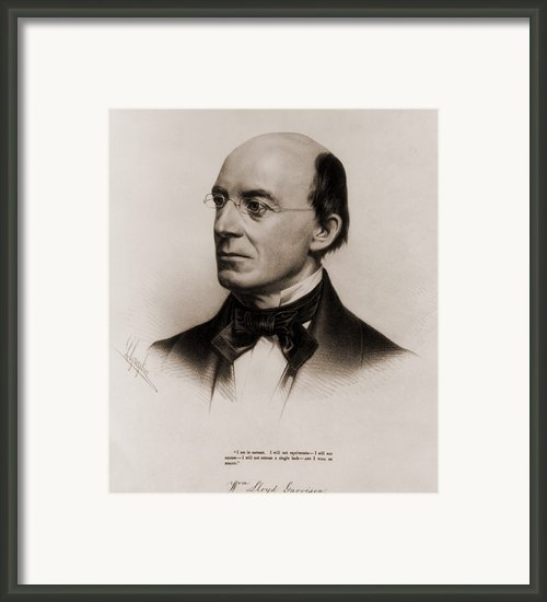 William Lloyd Garrison 1805-1879 Joined Framed Print By Everett
