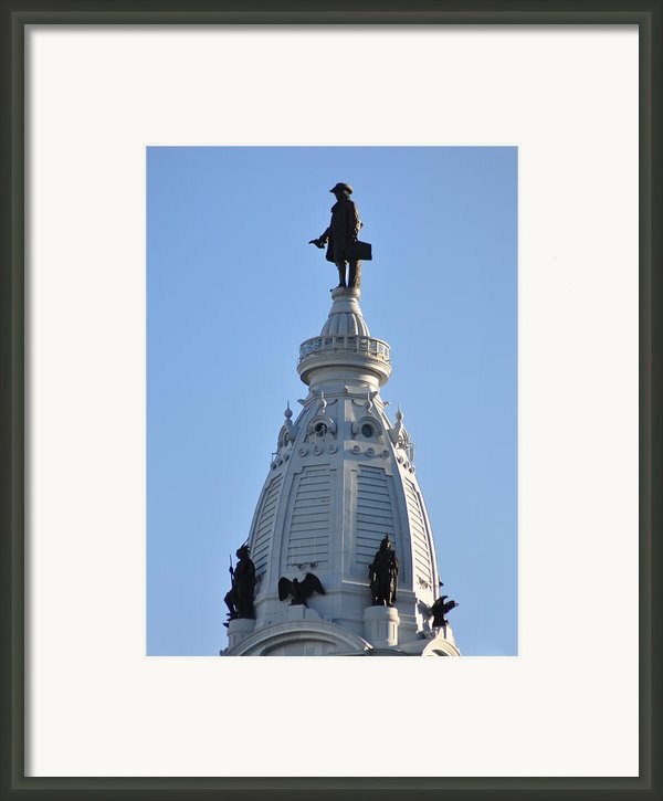 William Penn - On Top Of City Hall Framed Print By Bill Cannon