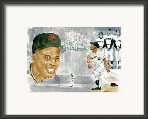 Willie Mays - The Greatest Framed Print By George  Brooks