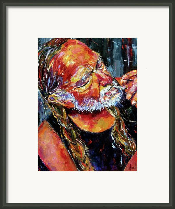 Willie Nelson Booger Red Framed Print By Debra Hurd
