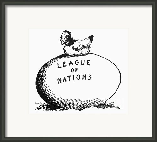 Wilson: League Of Nations Framed Print By Granger