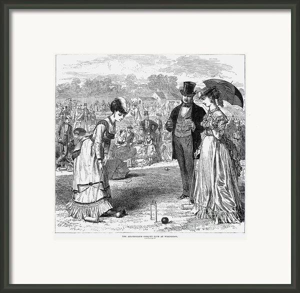 Wimbledon: Croquet, 1870 Framed Print By Granger
