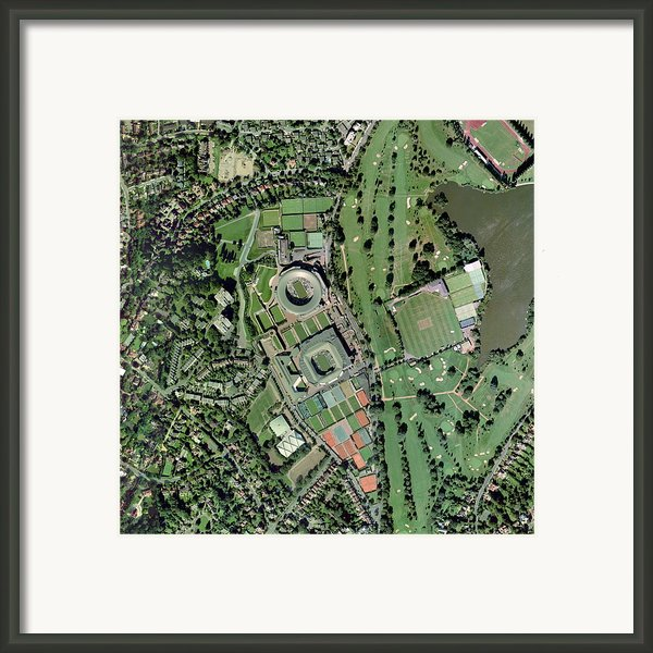 Wimbledon Tennis Complex, Uk Framed Print By Getmapping Plc