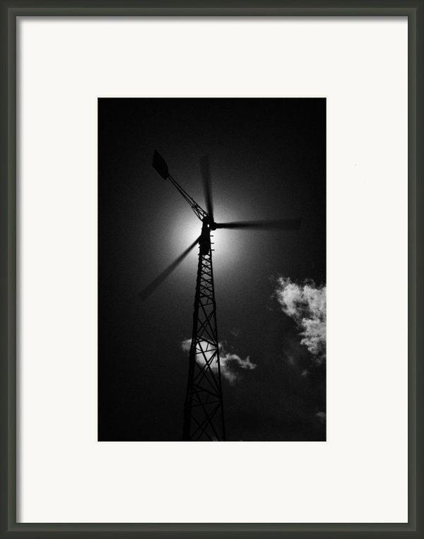 Wind Power Windmill Energy Framed Print By Joe Fox