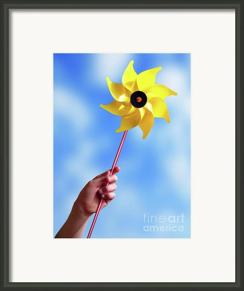 Windmill Framed Print By Carlos Caetano