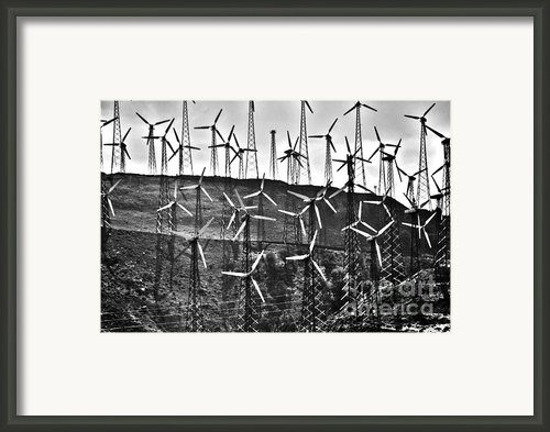 Windmills By Tehachapi  Framed Print By Susanne Van Hulst