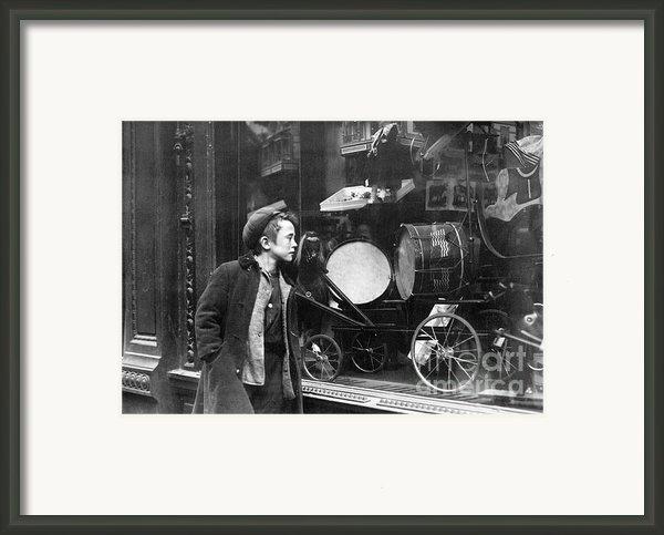 Window Display, C1910 Framed Print By Granger