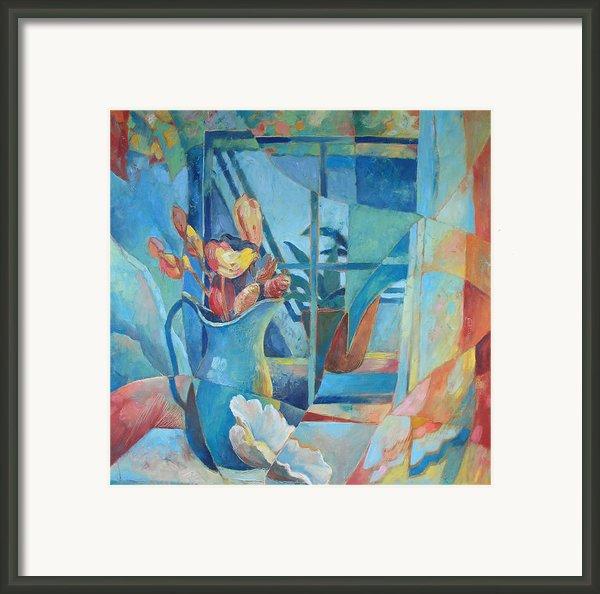 Window In Blue Framed Print By Susanne Clark