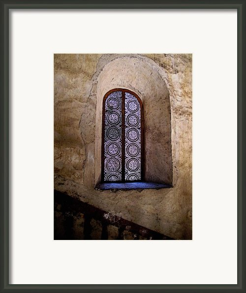 Window In Lace Framed Print By Olden Mexico