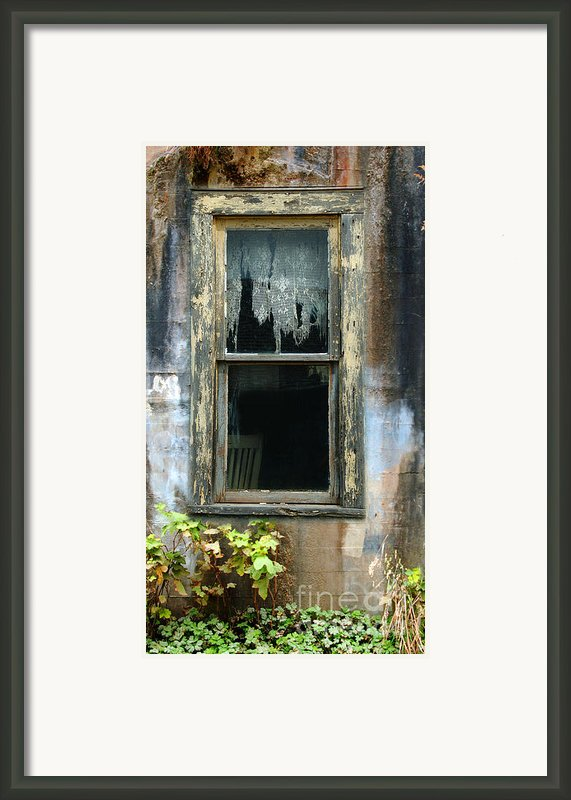 Window In Old Wall Framed Print By Jill Battaglia