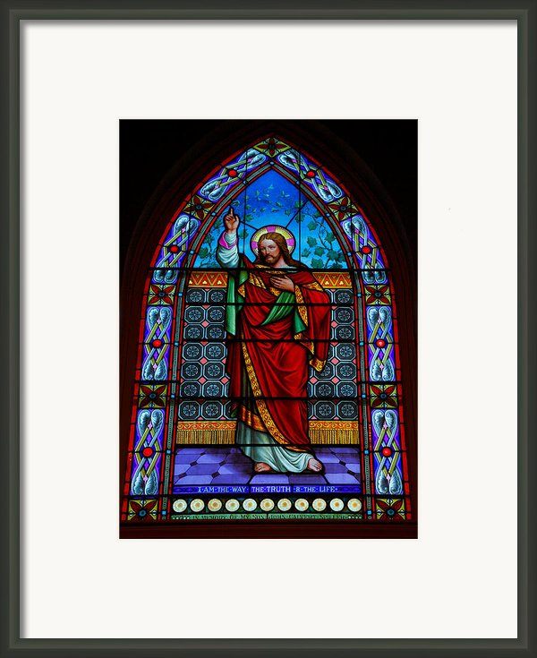 Window In Trinity Church Iv Framed Print By Steven Ainsworth