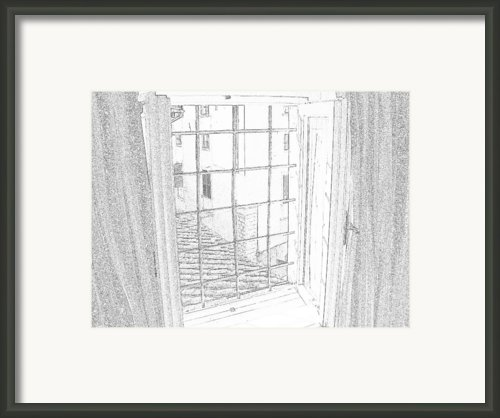 Window To History Framed Print By Michael Belgeri